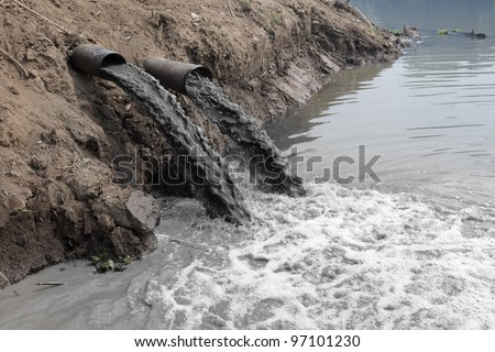 water pollution in river...