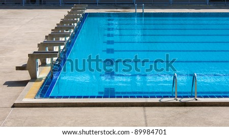 Water pool - swimming pool with row