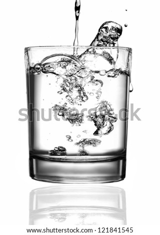 Water pouring - stock photo
