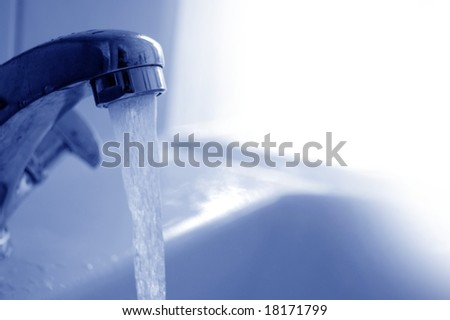 Water pouring from the tap