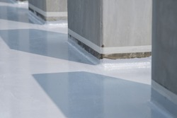 Water proof coating or painting on roof slab epoxy flooring