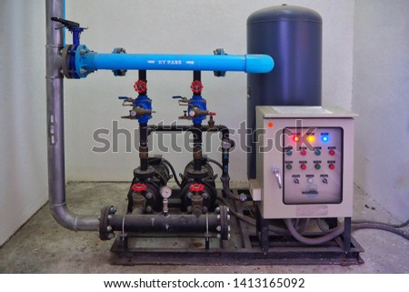 Water pump system for Pump water to keep at top of condominium.