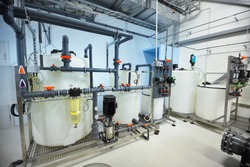 Water quality control unit on a reverse osmosis water treatment city station