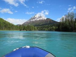 Water rafting on the beautiful  Kenai River, Alaska