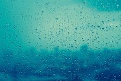 Water rain drops on window. Rain background