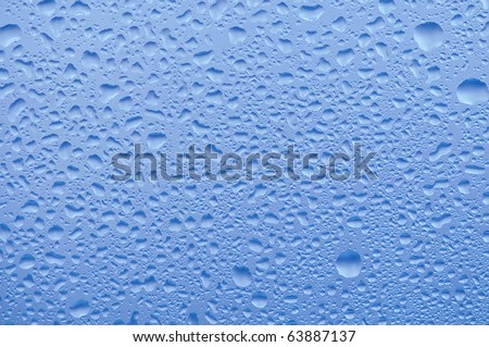 stock photo : Water raindrops on the window after rain for background