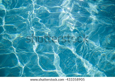 Water reflection on pool floor background abstract texture