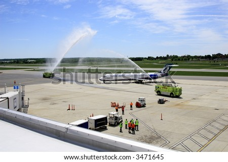 Water Salute for AirTran first flight