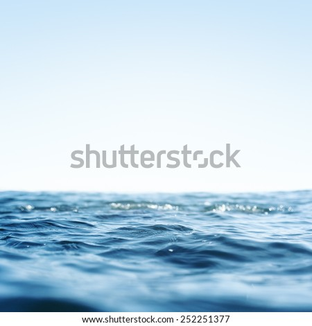 Water, Sea, Ocean, Wave. Close up Nature background. Soft focus