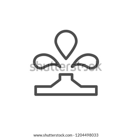 Water source line icon isolated on white