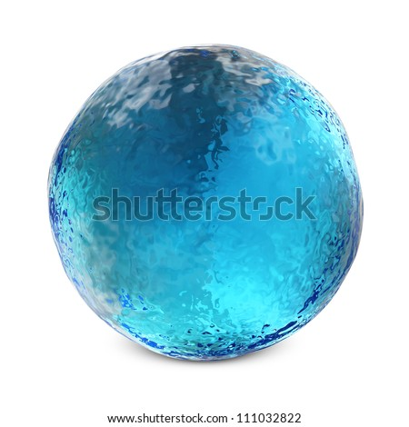 Water Sphere isolated on white background