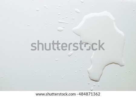 water spill on white background