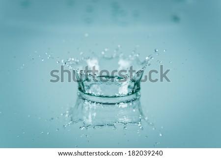 Water splash background