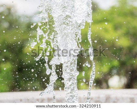 Water splash Background blur