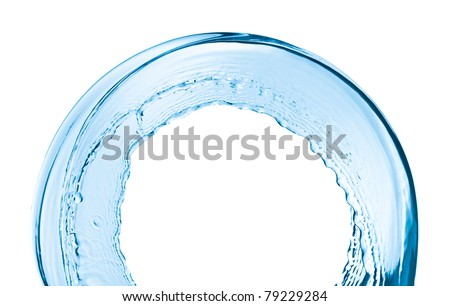 water splash close up isolated on white background - stock photo