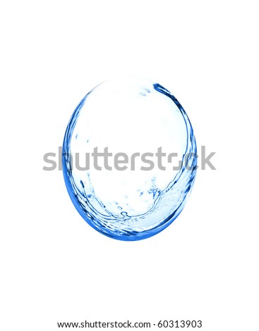 Water splash drop isolated on white background