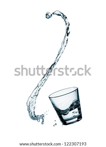 Water splash from a glass
