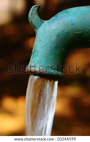 water splash from pump pipe