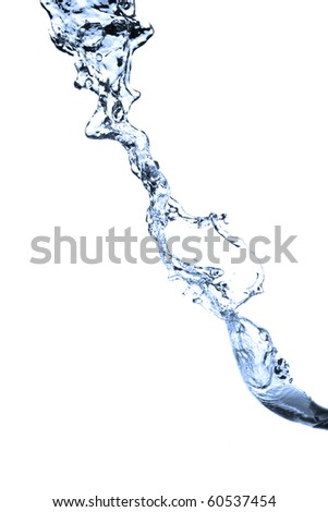 water splash isolated on the white background