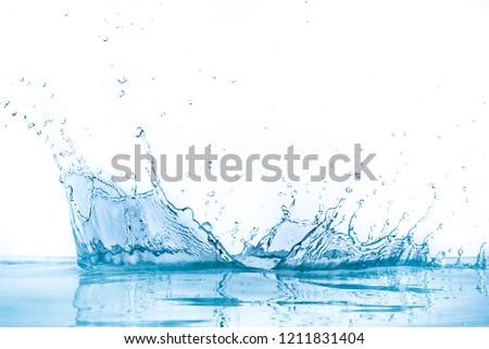 water splash isolated on white background #1211831404