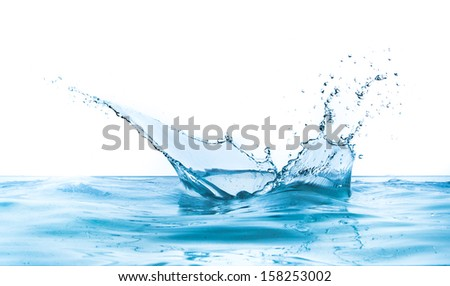 water splash isolated on white background