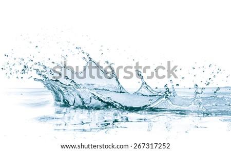 water splash isolated on white background - Shutterstock ID 267317252