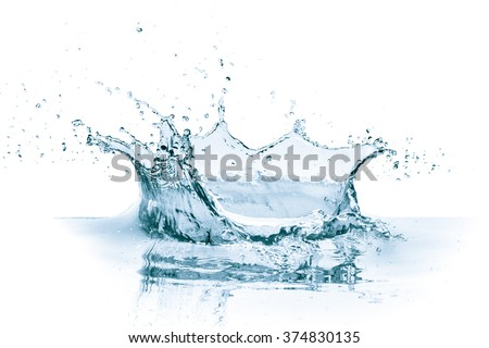 water splash isolated on white...