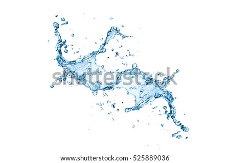 water splash isolated on white background #525889036