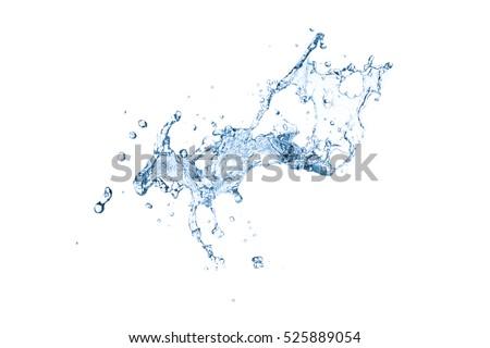 water splash isolated on white background #525889054