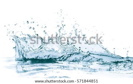 water splash isolated on white background - Shutterstock ID 571844851