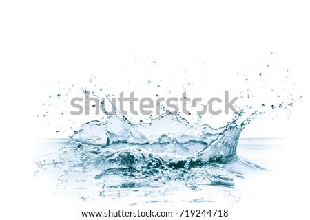 water splash isolated on white background - Shutterstock ID 719244718