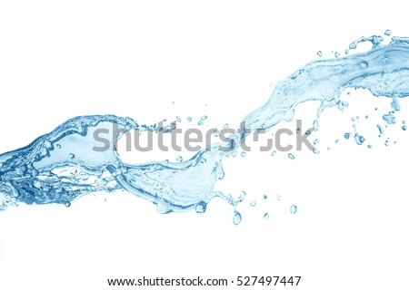 water splash isolated on white background,beautiful splashes a clean water - Shutterstock ID 527497447