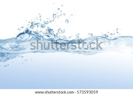 water splash isolated on white background,beautiful splashes a clean water #573593059