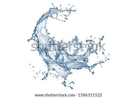 Water splash isolated on white background. blue water splash isolated on white background. Blue liquid. Ocean ripple. water texture. Ripple. Splash. Stylish Splash. Fresh water isolated. splatter.