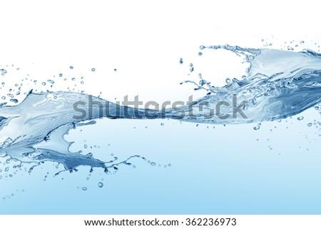 Water splash isolated on white.  water  splash of water forming   - Shutterstock ID 362236973