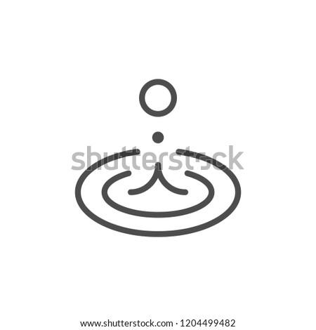 Water splash line icon isolated on white