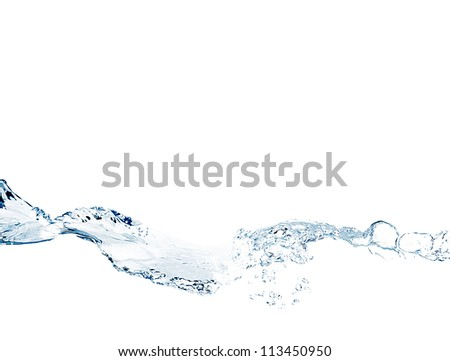 Water splash on a white background