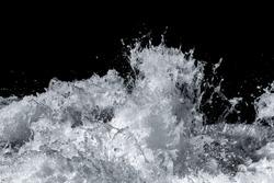 Water Splash On Black Background