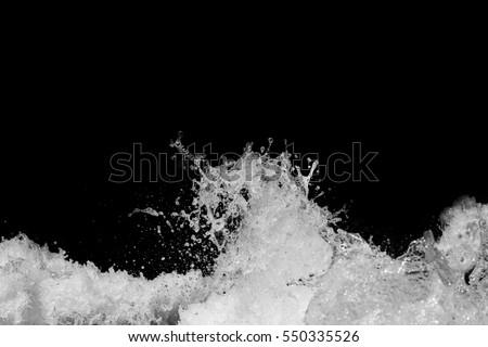 Water Splash On Black Background #550335526