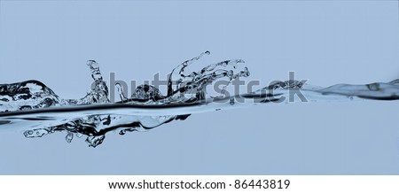 water splash on blue