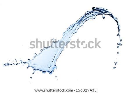 Water splash on white background - Shutterstock ID 156329435