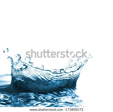 water splash on white background. #173808572