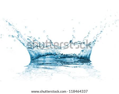 Water splash over white background - Shutterstock ID 118464337