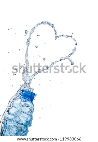 Water splash peach heart shape, the theme of love