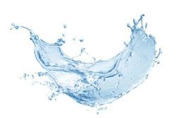 Water splash, water splash isolated on white background ,blue water splash,