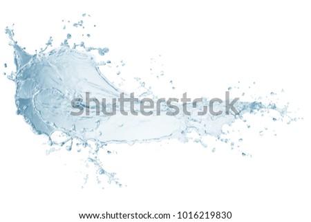 Water splash,water splash isolated on white background,blue water splash,water, #1016219830