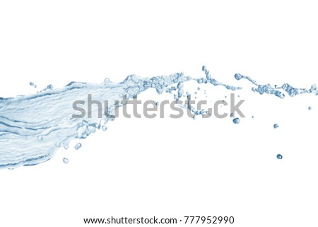 Water splash,water splash isolated on white background,blue water splash,water #777952990