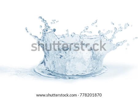 Water splash,water splash isolated on white background,blue water splash,water  #778201870