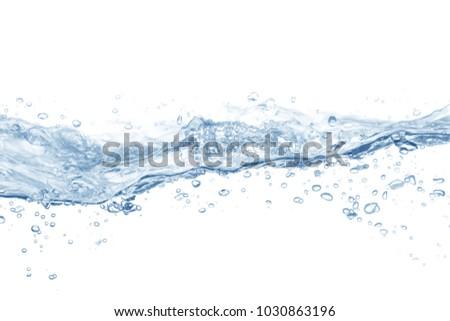 Water splash,water splash isolated on white background,water - Shutterstock ID 1030863196