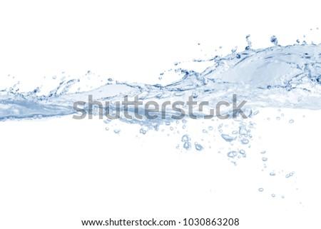 Water splash,water splash isolated on white background,water - Shutterstock ID 1030863208